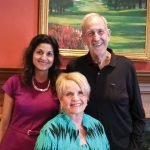 Co-chairs Reena Dhanda Patil and John Harrison, with Pinnacle Award honoree Barbara Bushman