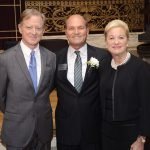 Keynote speaker James Redford, committee co-chair Jack Geiger and PNC Bank Regional President Kay Geiger