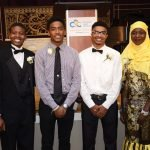 CYC Outstanding Students Azaria Pittman-Carter, Kenneth Lyle II, McKenzie Jones and Yaye Keita