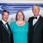 Gordon Havens, artistic director; Joann Ashley, mentor coach; Barry Baker, vice president of youth services