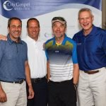 First-place team: Harry Petrinowitsch, Joe Zinchini, Greg Knapp and Lou Meyer