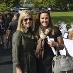 Board chair Lisa O'Brien and Wendy Upham