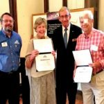Observatory director Craig Niemi, Naomi Gerwin, board chair Mike Flick and Bob Gerwin