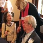 Longtime donors Joan and Oliver Baily (seated) with observatory neighbor Ann Schwister