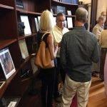 Board member Ron Hank with Jim Howe and Wendy Dierking-Howe