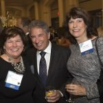 Guest of sponsor Loth Inc. Nancy Naber with honorary chairs Frank and Patty Leggio