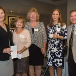 Norah Mock, Marian Cummings, Cindy Foster, honoree Jo Martin and Stephen Payne