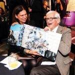 Tamara Harkavy and artist John Ruthven