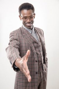 "Darnell Pierre Benjamin in ""Guess Who's Coming to Dinner"" (photo by Mikki Schaffner)"