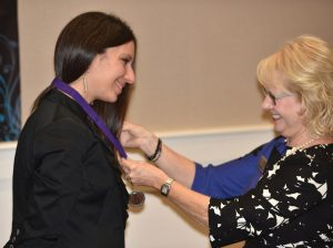 Honoree Andrea Migliozzi Voltz and board member Debbie Kokoruda
