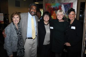 Board member Carol Shea, founder Bill Strickland, board member Kelly Kolar, chair Karen Bowman and CEO Clara Martin