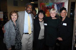 Board member Carol Shea, founder Bill Strickland, board member Kelly Kolar, chair Karen Bowman and CEO Clara Martin