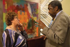 Kathy Merchant and Bill Strickland