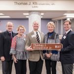 The Klinedinst Family, at the street dedication honoring the late Tom Klinedinst: Charles Klinedinst, Lucie Klinedinst Kober, Thomas Klinedinst III, Diana Klinedinst and George Klinedinst