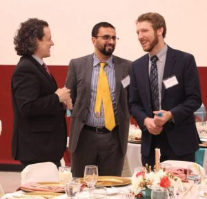 Dean David Mengel of Xavier University, Dr. Ahmed Munir and Mark Lammers of CET
