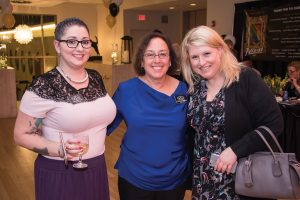 Clinic manager Lavender Cahill, board member Barb Lichtenstein and Shannon Riley