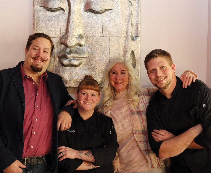 Bar manager Paul Elder, executive chef Jen Kempin, Anne Ilyinsky and sous chef David Wukusick