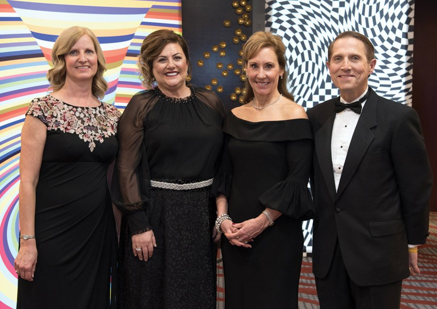 Mary Beth Schmidt, gala co-chair; Holly Mouch, gala chair; Felicia Burger, gala co-chair and Mark Clement, president and CEO of TriHealth