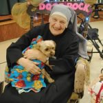 Sister George and house dog Misty from last year's Rock-a-thon
