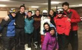 Special Olympics athletes and volunteers from SOHC Unified Ski Club: Austin Ross, Micah Bachrach, Abbie Maine, Libby Maine, Robbie Knodle, Meredith Irwin, Alex Bender, Michael Edleheit and (kneeling) Arielle Bachrach and Margot Wayne