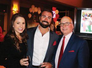 Allison Mecca, Stepping Stones board member Matt Hemberger and executive director Chris Adams