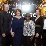 Co-chair Zamaris Geleszinski, honoree Rev. Michael Graham, 4C president/CEO Vanessa Freytag, honoree Diane Jordan-Grizzard, co-chair Christy Stockton and 4C board chair Emerson Moser