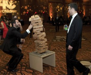 Guests at the Gala After-Party indulged in a giant Jenga game.