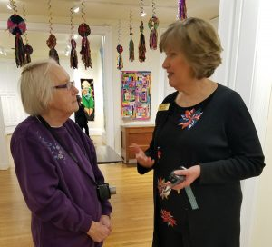 Geraldine Burkhart with museum executive director Laurie Risch