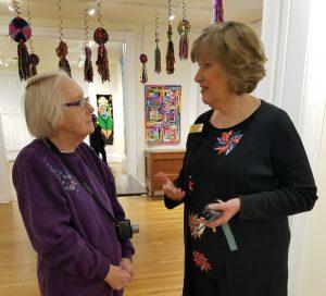 Geraldine Burkhart with museum executive director Laurie Risch