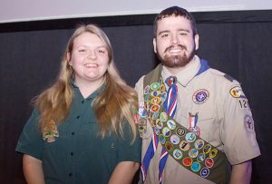 Scout speakers Casey Broxterman and Clark Harrison