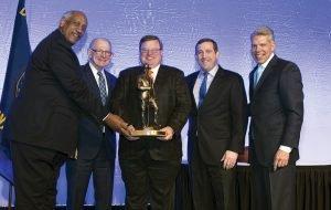 dgar Smith, Tom Dugger, honoree Chris Cole, chair Mike Lakin and Doug Bolton