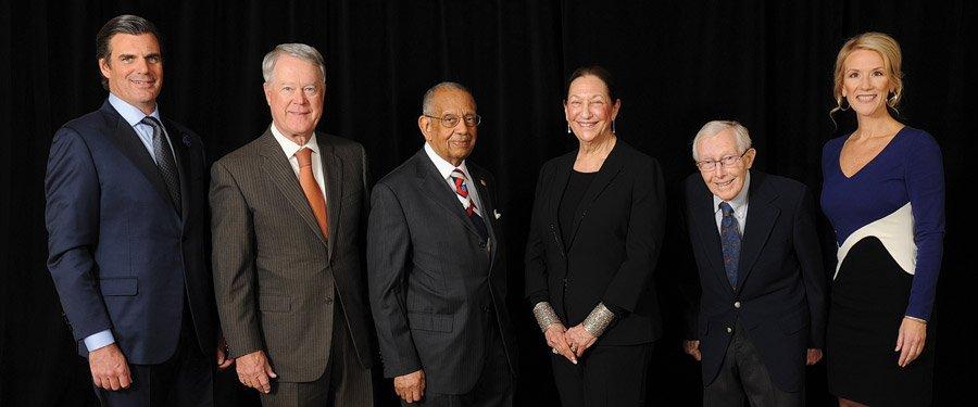 Phil Castellini, Robert Kohlhepp, Dr. Chester Pryor, Dr. Judith Van Ginkel, Ph.D., John Steele and Jill P. Meyer, president and CEO of the chamber