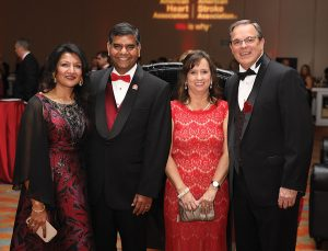 Co-chairs Subhadra Suresh, Dr. DP Suresh, Susan Colvin and Garren Colvin