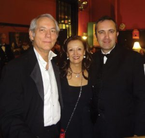 Center founders Kent Covey and Maureen Kennedy, with Aidan Cronin, vice consul of Ireland