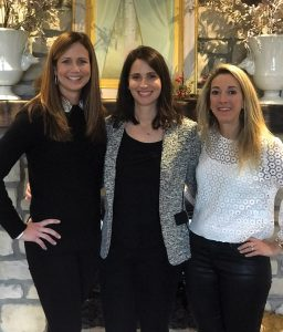 Event chairs Jennifer Herzog, Allison Thornton and Becca Schecter