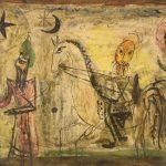 Moshe Castel Ancient Scroll, enamel on paper, ca. 1940. Skirball Museum, gift of Polly and Jacob Stein in memory of Edith and James L. Magrish