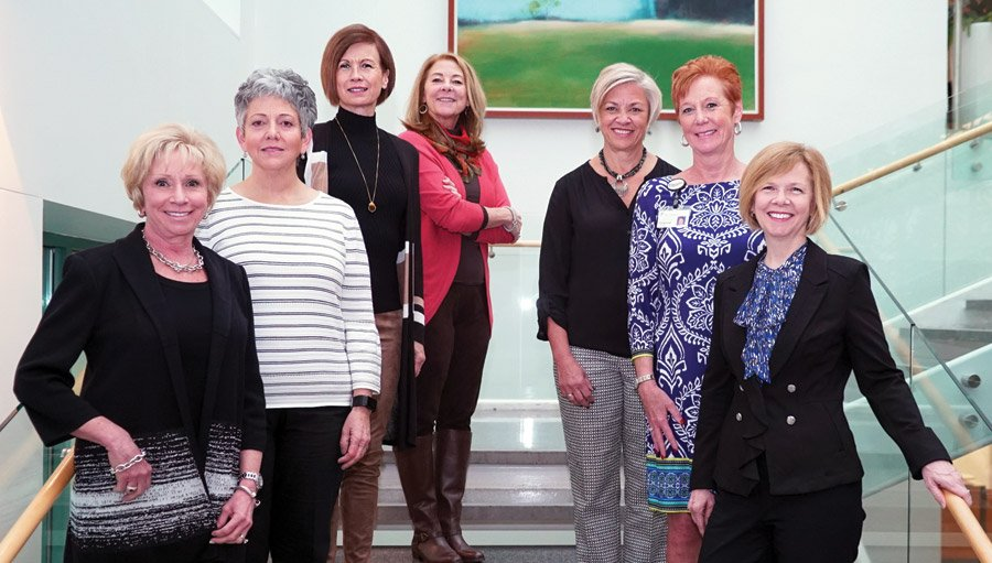 Connie Maccarone, Roberta Tanno, Kim Hartman, Karyn Hutson, Mary Beth Donelan, Dianne Fisk, Becky Hildebrandt