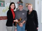 Kris Mullin, event co-chair; Kevin Smith, owner of Lobsta Bakes in Newtown; Katie Brass, CEO of Inter Parish Ministry