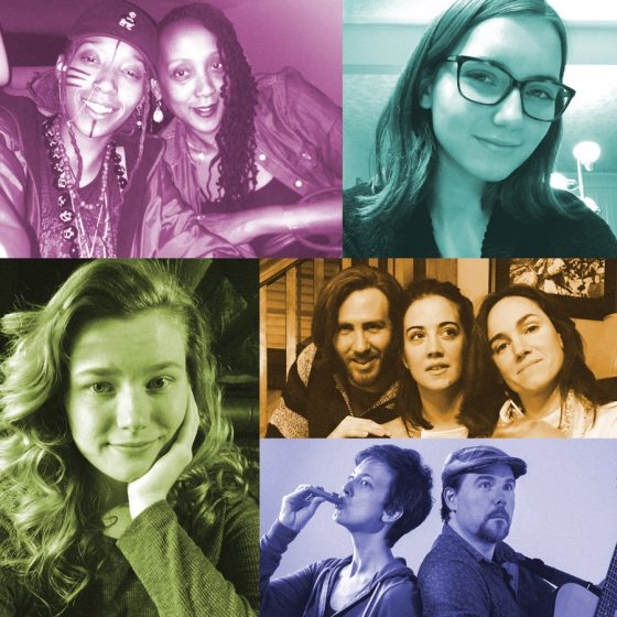 (Top) Siri Imani and Jennie Wright; Vicky Alcorn; (middle) Rob Keenan, Katie Chal and Patty Chal; (bottom) Victoria Hawley; Erika Kate MacDonald and Paul Strickland