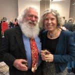 Pat Lense and Peg Fox (husband and sister of honoree Pat Fox)