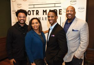 James Marable, Cincinnati Young Black Professionals co-founder/co-chair; Erica White; Karl Daniels; Mike Smith