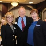 Hamilton County Juvenile Court judges Melissa Powers and John Williams with Tracy Cook