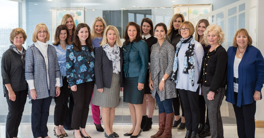 CORE chairs Back: Carrie Carothers, Jamie Humes, Amanda Bentley Fessler, Heather Vecellio and Madeline Caldemeyer; Front: Lynda Schilderink, Angie Carl, Jen Buchholz, Meg Cooper, Marty Humes, Rosemary Schlachter, Kimia Ghazi, Lisa Dir, Janice Hartman and Millie Swaine
