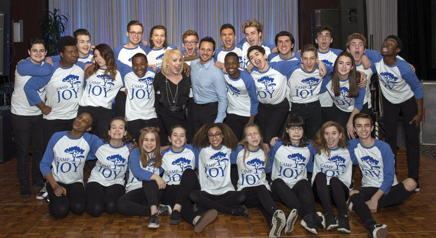 Drew and Lea Lachey with Lachey Arts students