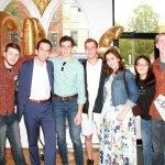 Cincinnati Debate Society: Joshua Smithe, Anthony Riggs, Noah Weaver, Abraham Weaver, Josiah Smithe, Yilina Li and Lucas Admiraal