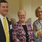 Brian and Julie Ross, Rey of Light chairs, with Sister Jeanne Bessette, school president