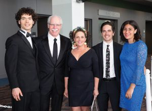 Honoree Rich Boehne (second from left) with his son Luke Boehne; wife, Lisa Boehne; son Jake Boehne and daughter-in-law Adalia Boehne