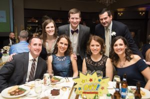 (Back) Elizabeth McAllister, Andrew McAllister, Mike Wolf; (front) Ryan Fromm, Elizabeth Fromm, Lauren Storer, Sara Wolf