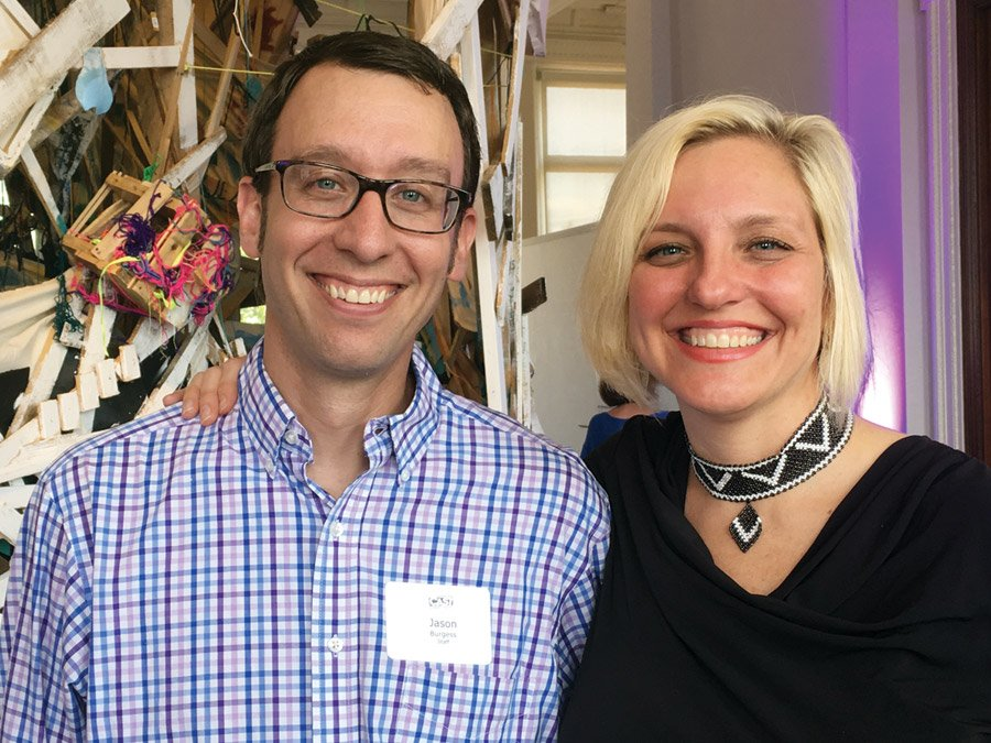 CAST artistic director Jason Burgess with supporter Elise Hyder