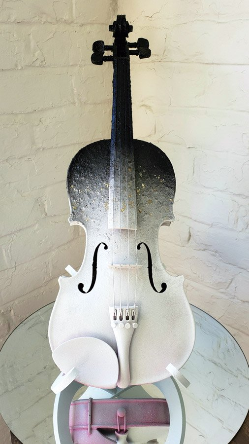 """This shimmering violin is coordinated with """"The Four Seasons: Reimagined"""" (Aug. 11, SCPA) and """"Postcards from the Sky"""""""